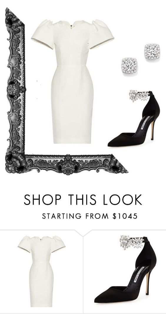 """glam"" by huda77 on Polyvore featuring Roksanda, Manolo Blahnik and Bloomingdale's"