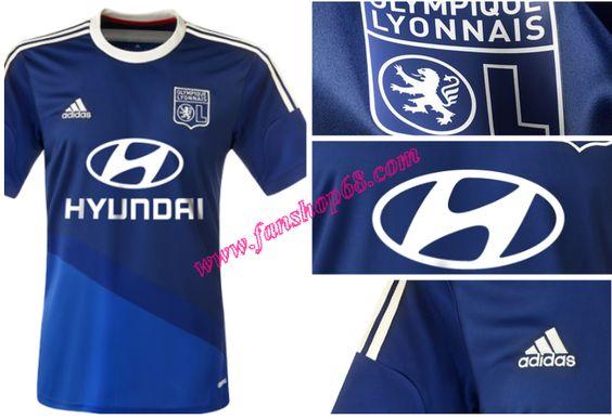 Gestalten Neue Lyon(Lyon)Blau Adidas Away Fussball Trikot 2014 2015 Billig Creator Online