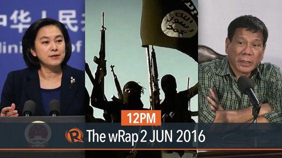 PH and China, Panelo, ISIS   12PM wRap