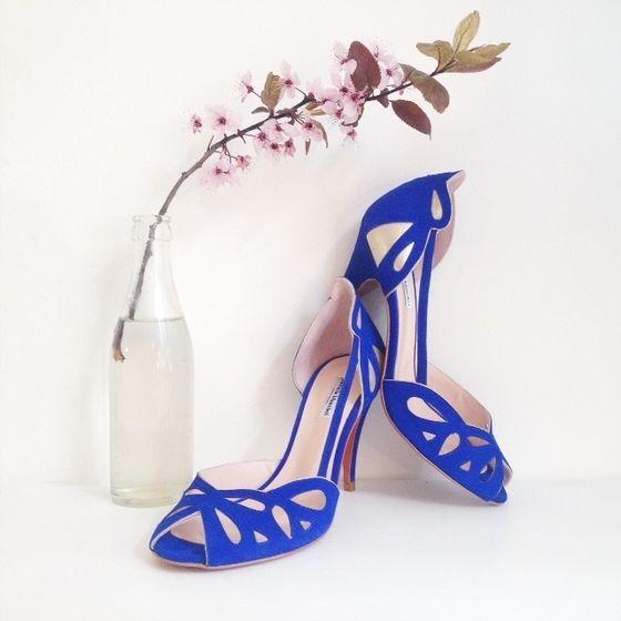 love wedding shoes addict mariage  patricia blanchet chaussures Escarpins  GERTRUDE bleu roi blue glitter