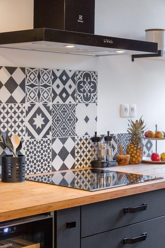 Carreau de ciment Belle époque gris, l200 x L200 cm leroy - poco küchen unterschrank
