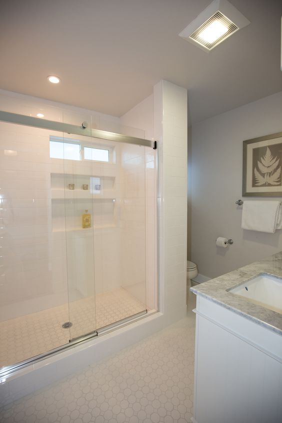 Elegant shower in master bath