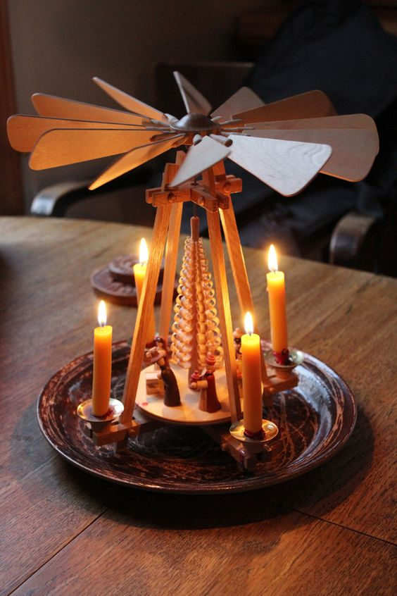 German christmas pyramid, I have found these called many different things. I love them! My favorite Christmas decorations.