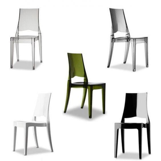 Sedie impilabili in policarbonato modello glenda sedie for Miglior modello di casa