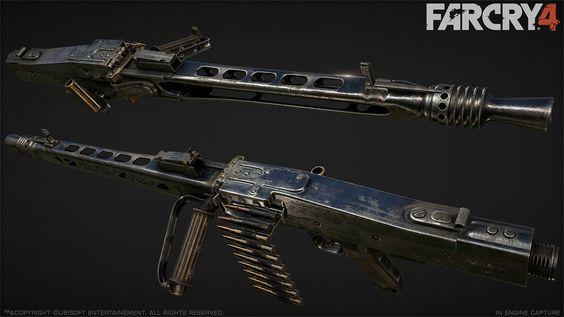 Far Cry 4 : MG42 : 2, Greg Rassam on ArtStation at http://www.artstation.com/artwork/far-cry-4-mg42-2