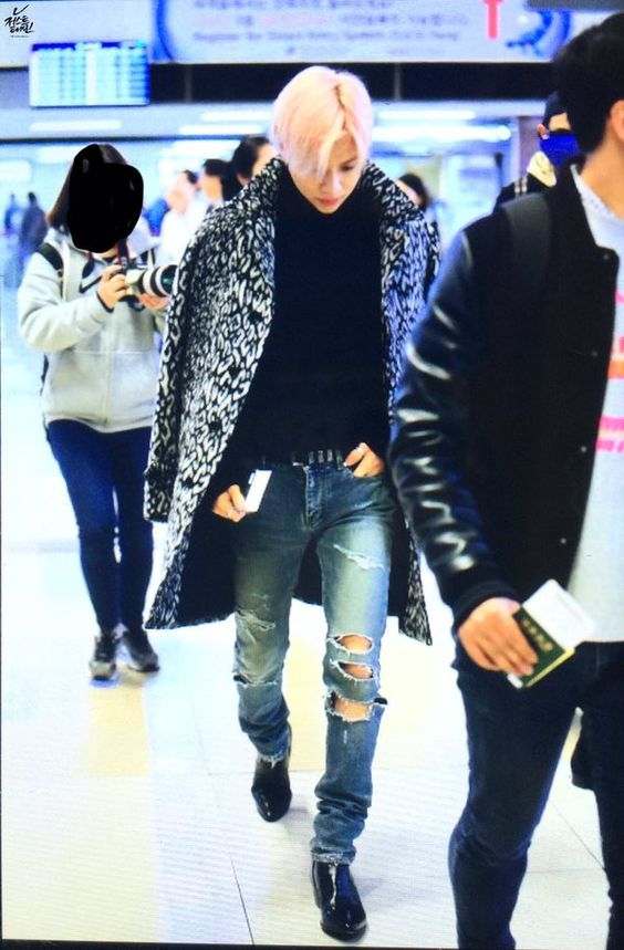 #taemin #shinee 151101 Seoul Gimpo Airport to #Japan #saintlaurent #airportfashion