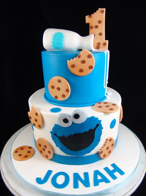 Pleasant Cookie Monster First Birthday Cake With Images Monster Funny Birthday Cards Online Elaedamsfinfo