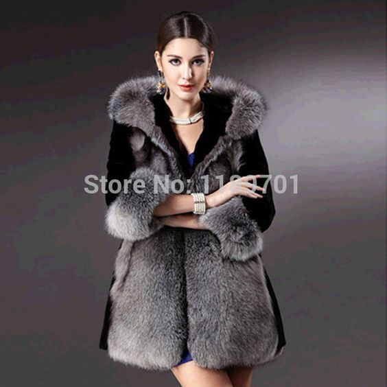 Cheap fur jackets ladies, Buy Quality fur jacket women directly from China jacket faux fur Suppliers: Specification:Material:Fox Faux FurSleeve Length:Long SleeveStyle:Long/Slim/Color Matched/HoodedColor:Black+GraySeason:S