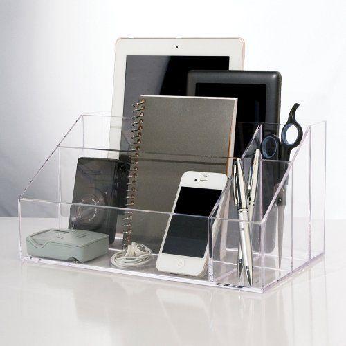Premium Crystal Clear Plastic Craft Electronic Office Items Storage Organizer Stori Organização Da área De Trabalho Mesa Organizada Organizar Gavetas