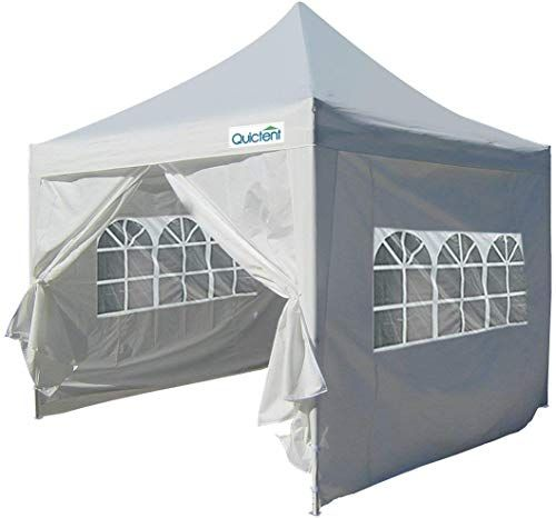 Amazing Offer On Quictent Silvox 10x10 Ez Pop Up Canopy Tent Instant Canopy Gazebo Sidewalls Roller Bag Pyramid Roofed Waterproof White Online Pop Up Canopy Tent Canopy Tent Instant Canopy