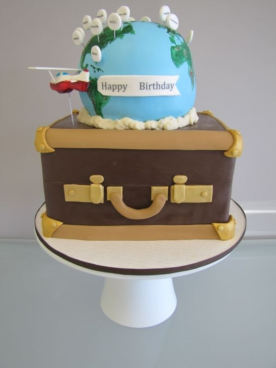 Cake Decorating Birthday Party Places : World Traveling Birthday Cake By: mdgosnell around the ...