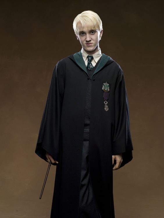 Draco Lucius Malfoy ~ a pure-blood wizard & only son of Lucius & Narcissa Malfoy (née Black). The son of a Death Eater, Draco was raised to believe strongly in the importance of blood purity. He attended Hogwarts School of Witchcraft and Wizardry, getting sorted into Slytherin house. During his years at Hogwarts, he developed a rivalry with Harry Potter