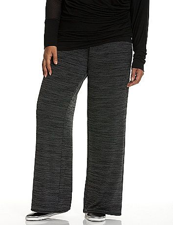In our softest-ever knit, our yarn dye wide leg spa pant is the decadent on-the-go staple you'll never want to take off. Wide elastic waist offers a flattering fit and easy pull-on styling. Slash pockets. lanebryant.com