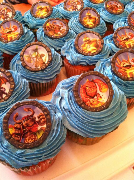 Skylander cupcakes. Got the rings on amazon