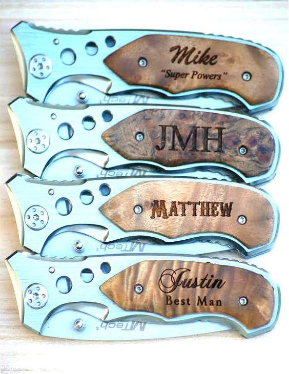 Wedding Gift Pocket Knives : Pocket Knife, Groomsmen Pocket Knives, Monogrammed Wedding Gift ...
