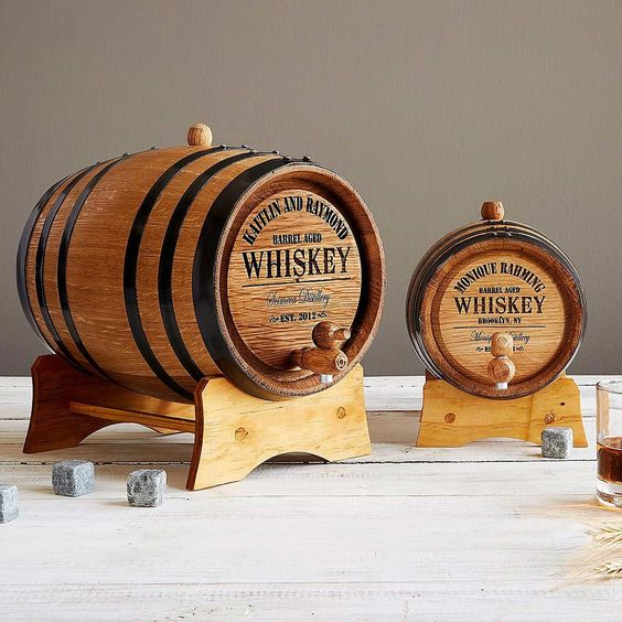 A personalized barrel for the whiskey lover -Weird but actually smart Christmas gifts for guys - Todaywedate.com