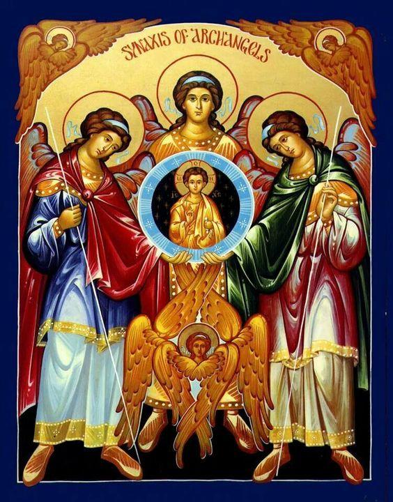 Archangels Michael, Gabriel & Raphael.