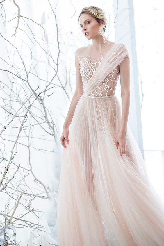 The Mimosa Gown from the Mira Zwillinger Whisper of Blossom Collection // see them all at www.onefabday.com