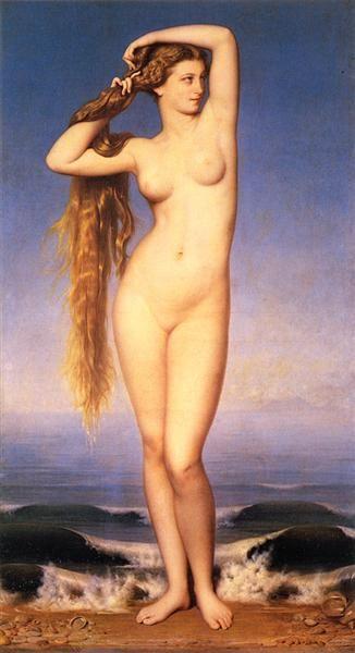 """Amaury-Duval, """"Naissance de Vénus"""" (1862) Lille palais des beaux arts:"""
