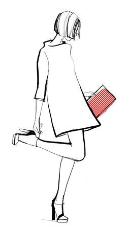 Garance Dore for Kate Spade simple sketch pop of color