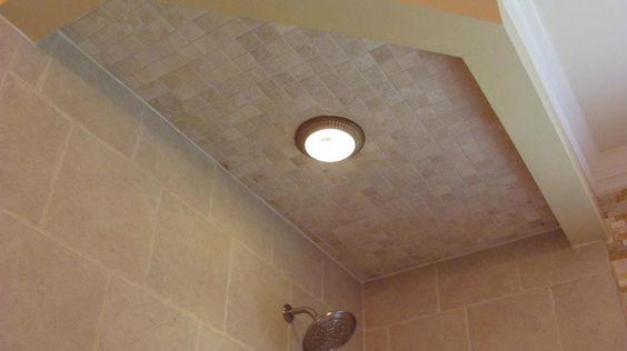 tiled shower ceiling 4x4s