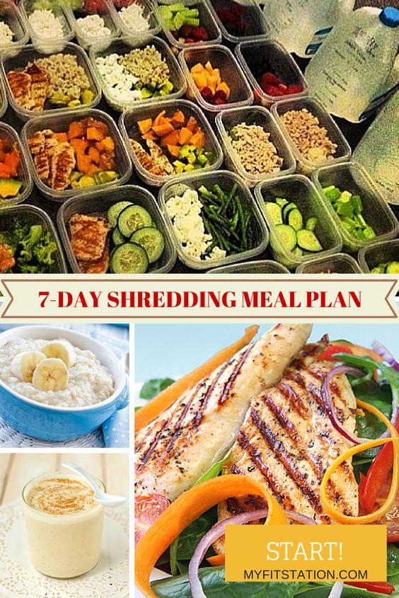 7-day Shredding & Fat Burning Meal Plan - www.myfitstation.com #fitness #mealplan #fatloss