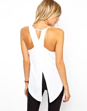 ASOS Tank with Asymmetric Straps and Wrap Back