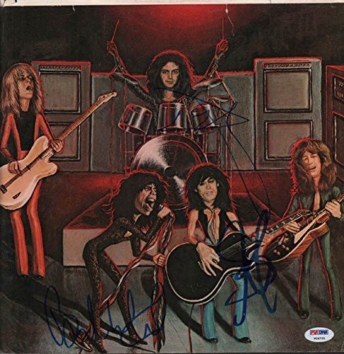 Aerosmith Steven Tyler Plus Autographed Album Sleeve Poster Photo Psa Aftal To View Further For This Ite Rock Album Covers Aerosmith Album Sleeves