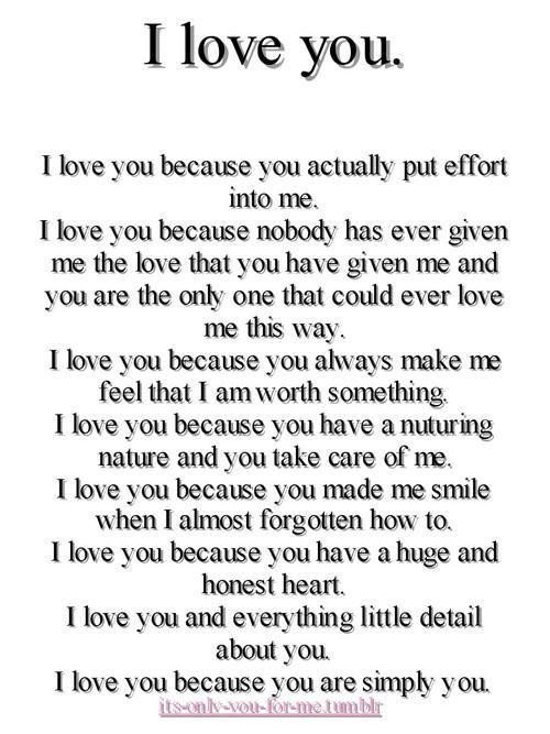 In love with you poems