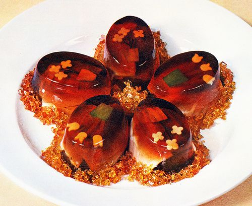 """Jellied Eggs with Tarragon Art of French Cooking"""" 1962"""