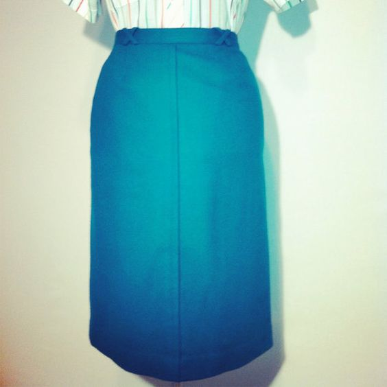 Vintage 80's Haberdashery Collection Teal by BeatificVintage, $22.00