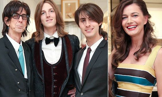 Paulina Porizkova and rocker husband Ric with their lookalike sons