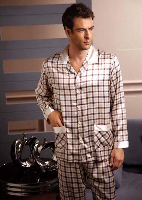 Classical Silk Pajama Set For Men | Pajamas for Men | Pinterest ...