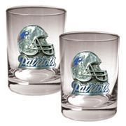 New England Patriots 2-pc. Rocks Glass Set