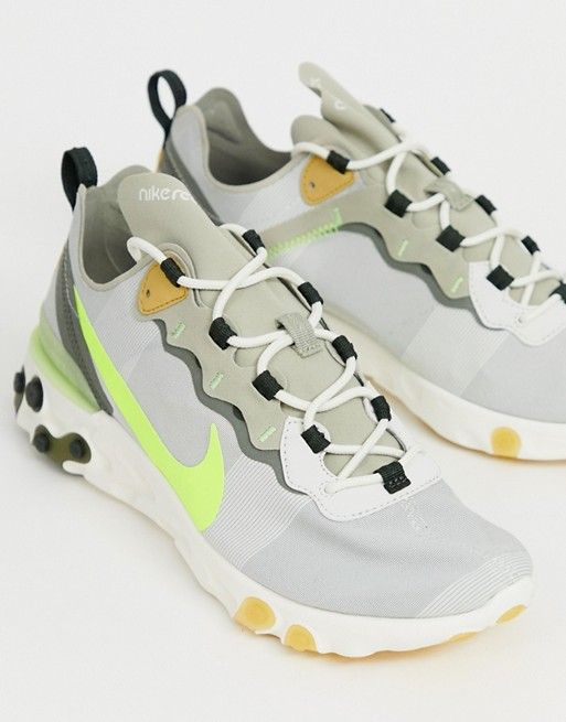 Nike React Element 55 trainers in grey