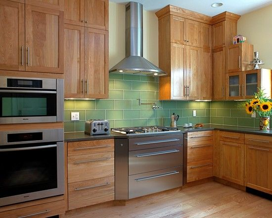 Kitchen Red Birch Cabinets Design, Pictures, Remodel, Decor And