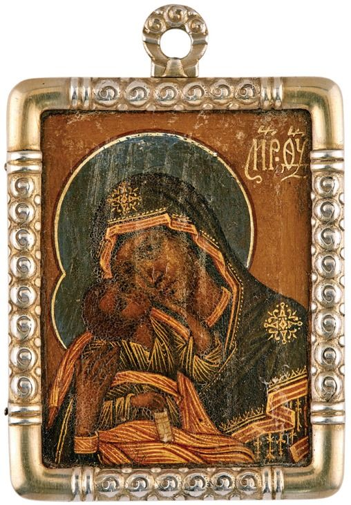 Faberge Icon of the Mother of God, circa 1916