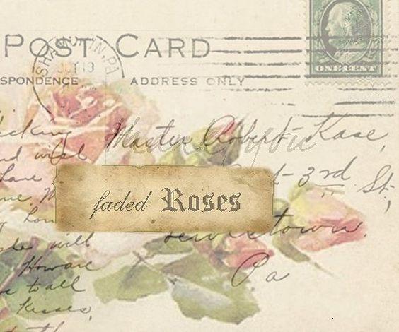 MI BAUL DEL DECOUPAGE: Y LLEGÓ LA PRIMAVERA...  post card w/roses