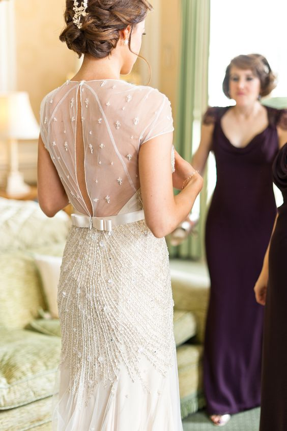 Wedding Gown by Jenny Packham -- See the wedding here: http://www.StyleMePretty.com/destination-weddings/2014/04/08/romantic-british-wedding-at-brocket-hall/ Photography: Anushe Low - anushe.com -- #SMP