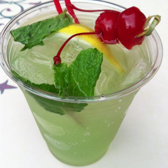 The Famous New Orleans Square Mint Julep at Disneyland   But I hate mint -__-