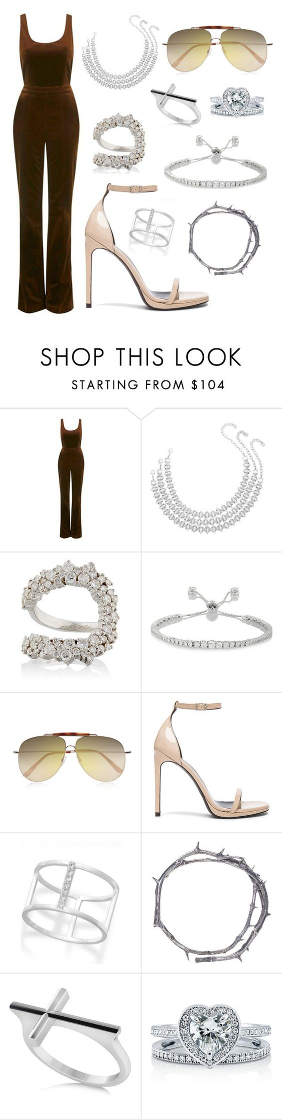 """""""Untitled #339"""" by lindsaysoares ❤ liked on Polyvore featuring Topshop Unique, DANNIJO, Ana Khouri, Kenneth Jay Lane, Valentino, Yves Saint Laurent, Studio Silver, Pearls Before Swine, Allurez and BERRICLE"""