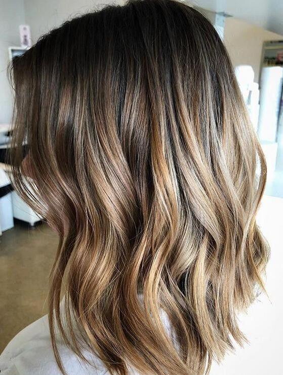 Peachy Blonde Gradient Highlights On Short Hair