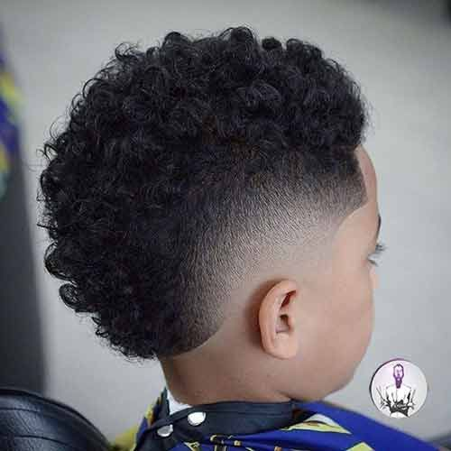 Curls With Gradient At Temples Black Boys Haircuts Little Black Boy Haircuts Boys Haircuts