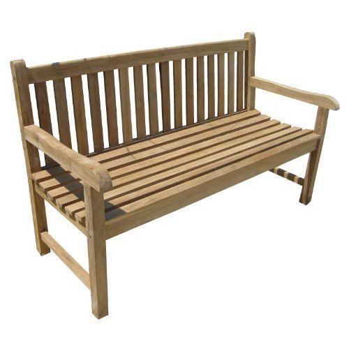 Eine Hochwertige Teak Bank Der Fa Home Feeling Aus Witterungsbestandigem Teakholz L B H Ca 150 X 63 X 92 Teak Garden Bench Teak Garden Furniture Teak Bench