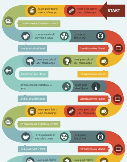 Snake shape infographics template | Infografias | Pinterest ...
