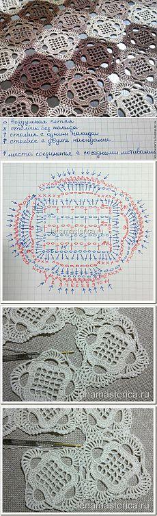 Crochê por módulos - com gráfico: