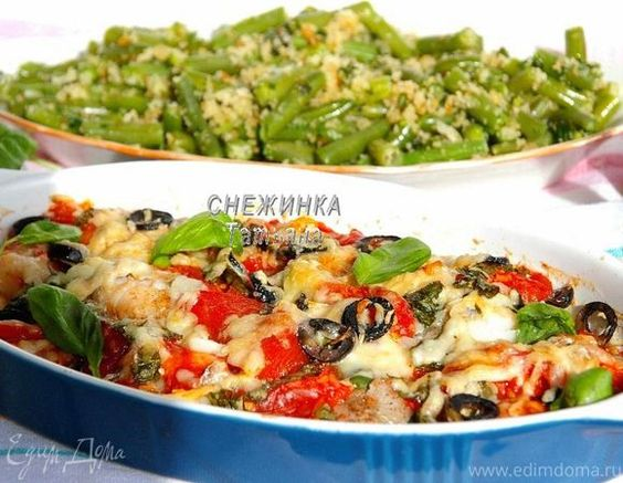 Рыба по-итальянски со стручковой фасолью в хлебных крошках (Fagiolini all aglio…