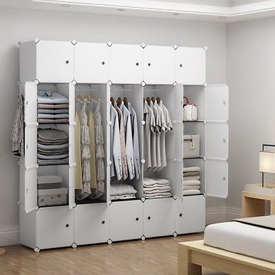 New Closet Wardrobe Space Saving Portable Clothes Storage Organizer With Shelves In 2020 Portable Wardrobe Closet Portable Closet Wardrobe Closet