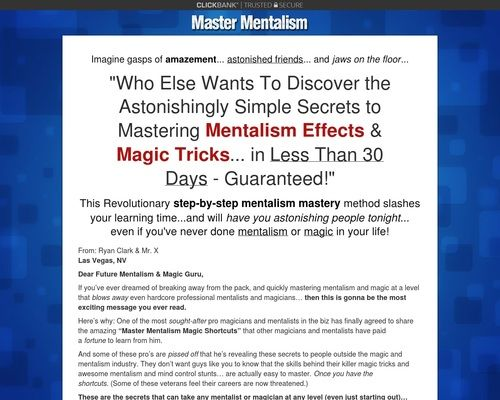 Master Mentalism How To Do Mentalism Effects Magic Tricks Magic Tricks New Tricks The Magicians