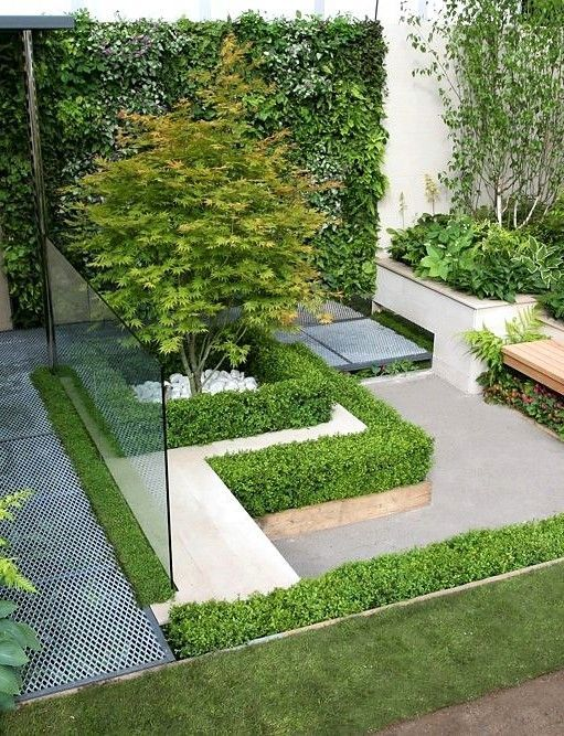 Have You Thought About Revamping Your Front Yard But Don T Want To Break The Bank Th Small Courtyard Gardens Contemporary Garden Design Small Backyard Gardens